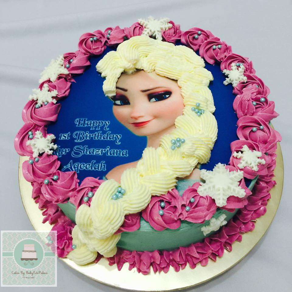 Flair Cakes Sisters Elsa Braid Hair Cake