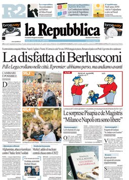 La prima pagina del 31 maggio 2011