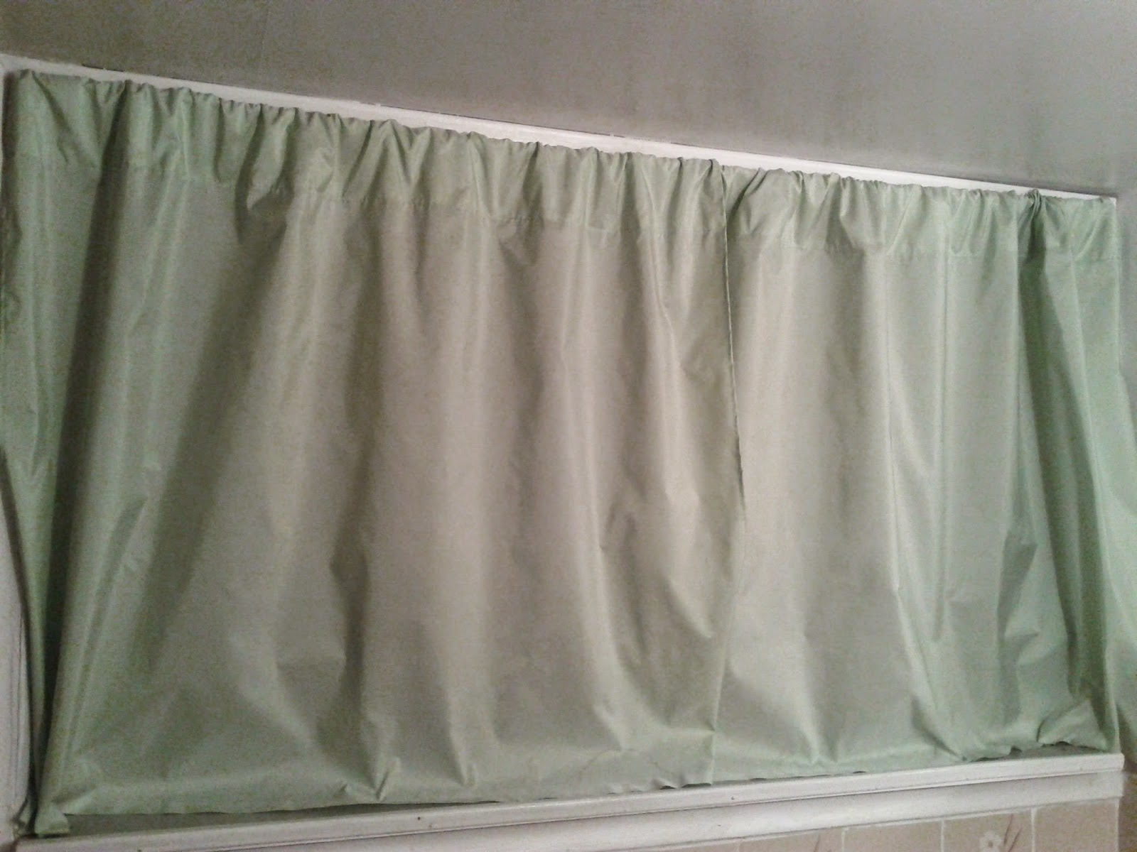 Light green curtains stock photo