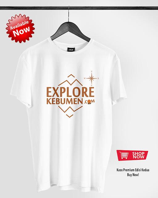 Kaos Explore Kebumen Putih Edisi Kedua