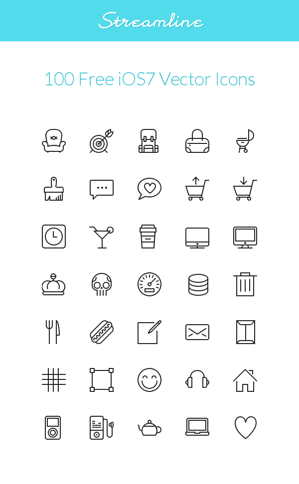 Streamline: iOS7 Vector Icons