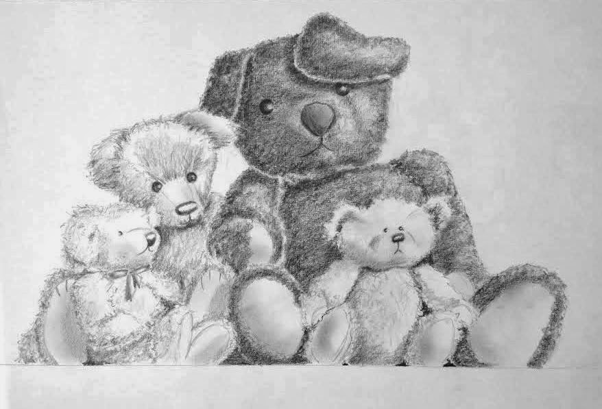Teddy Bear Paintings Drawings it Into a Painting