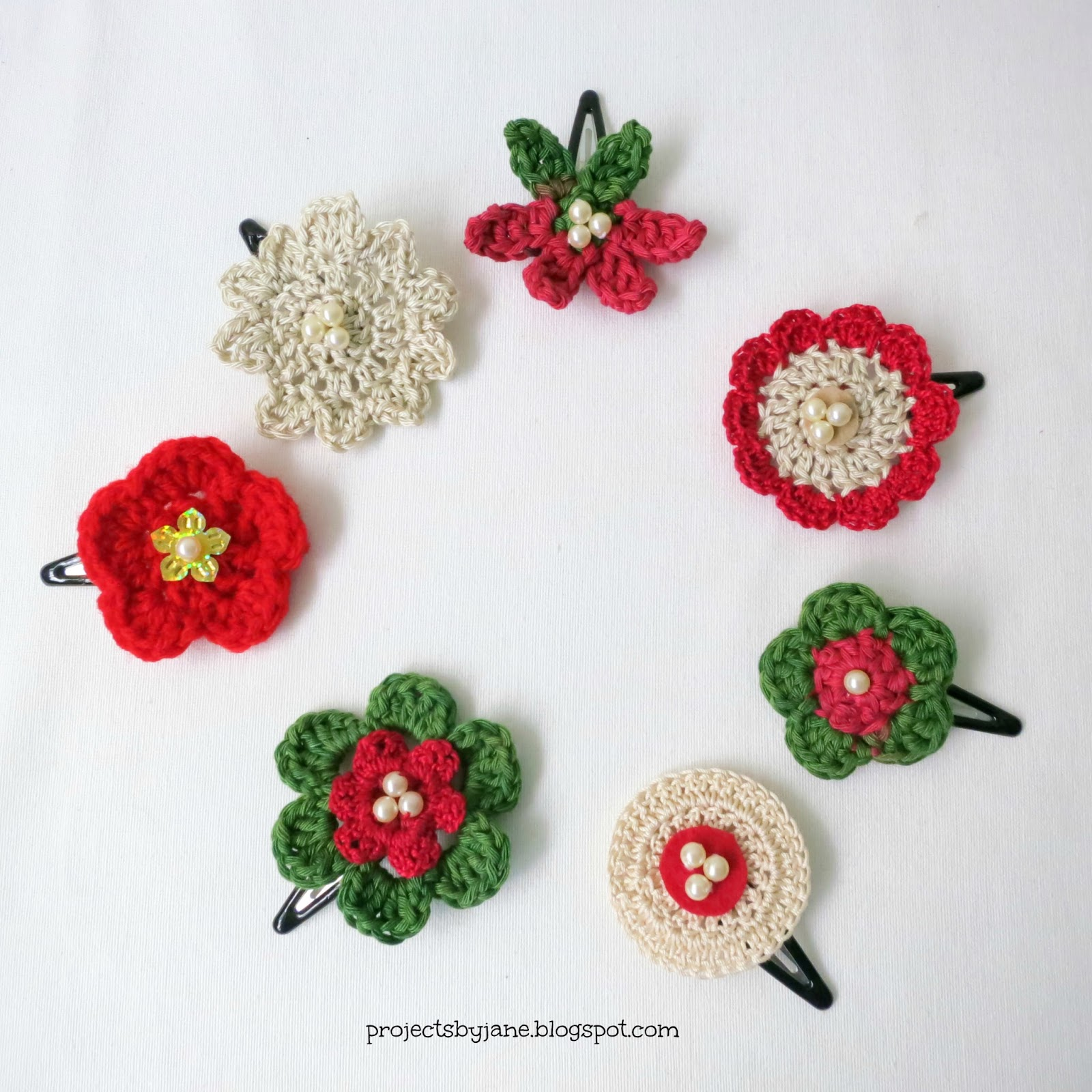 in my haste to make these crochet hair flowers i