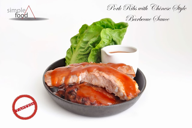 Pork Ribs with Chinese Style Barbecue Sauce ~ Simple Food