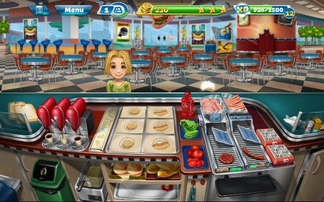 Cooking Fever Android app walkthrough.