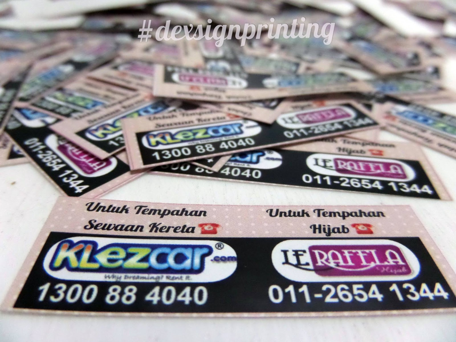sticker murah dan name card