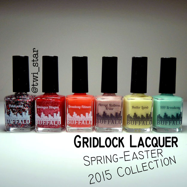 Gridlock Lacquer Spring Easter 2015 Collection swatches