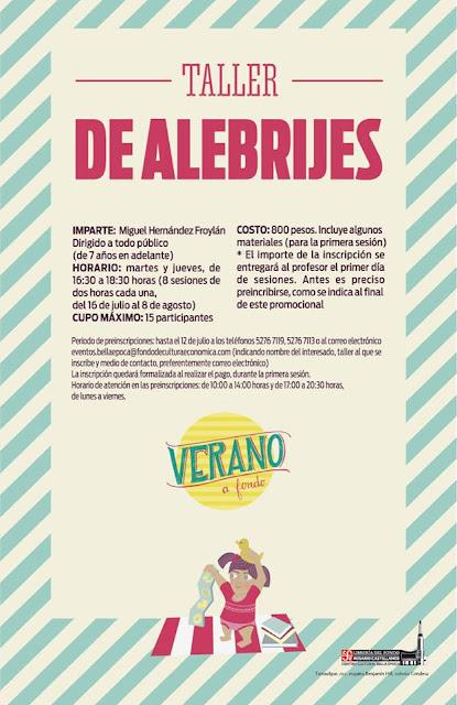 Taller de Verano sobre Alebrijes en el Centro Cultural Bella Época