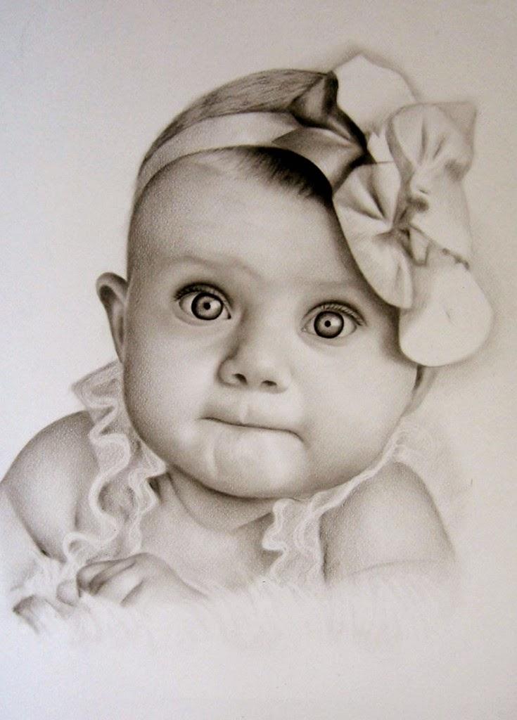 Pintura Moderna y Fotografa Artstica  Retratos de Lindos Bebes