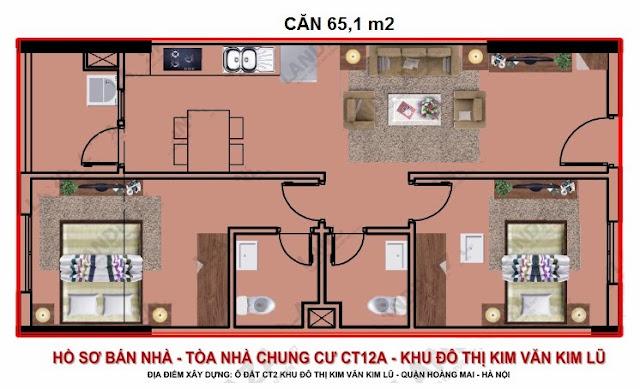 bán chung cư kim văn kim lũ ct12b căn 65m