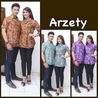 model baju batik pasangan terbaru motif bunga