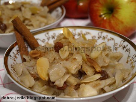 Cestoviny s jablkovým pyré - recepty