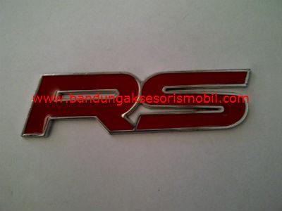 Emblem Tulisan Exclusive Tulisan RS Merah