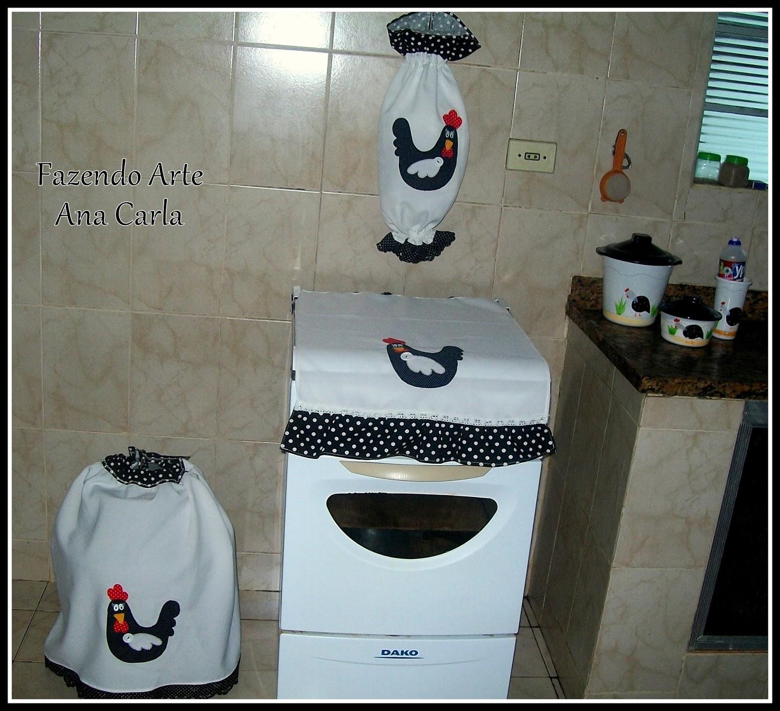 Fazendo Arte Kit cozinha galinha dangola