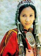 turcoman girl in traditional attire