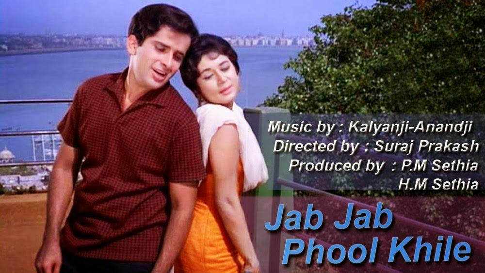 Image result for 12) Jab Jab Phool Khile (1965)