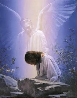 Jesús y un ángel