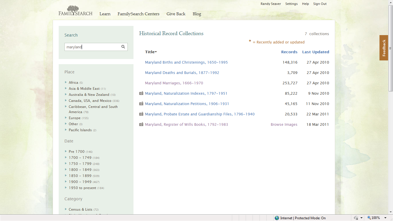 Baltimore county maryland genealogy learn familysearch org - To Start This Search I Started On The Historical Collections Page Put Maryland In The Search Field And Without Clicking Anything I Saw
