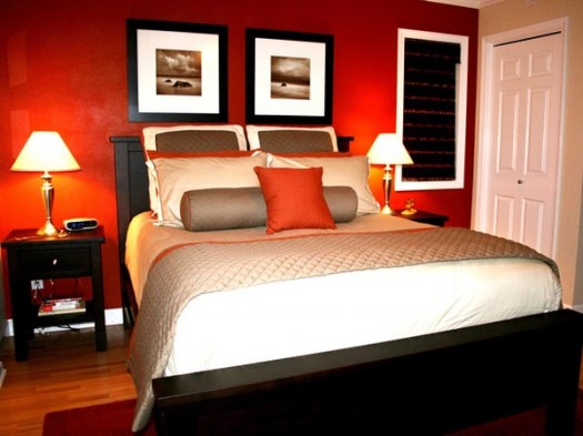 Red Master Bedroom Decorating Ideas