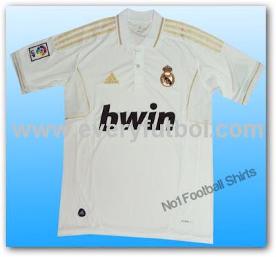 La Nueva Camiseta del Real Madrid 2011-2012