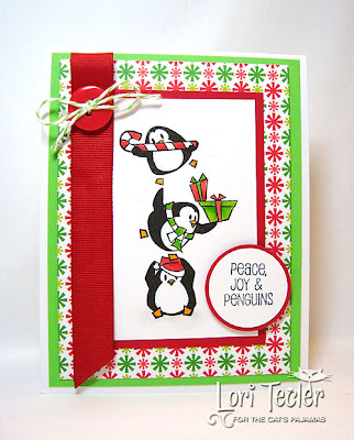 Peace, Joy, and Penguins-designed by Lori Tecler-Inking Aloud-stamps from The Cat's Pajamas