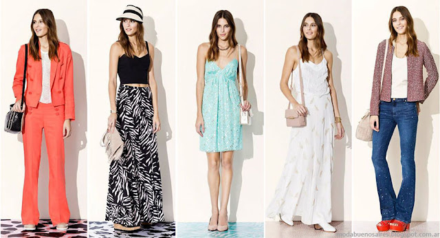 Moda primavera verano 2016 Vitamina. Moda 2016 faldas, vestidos, trajes, pantalones oxford.