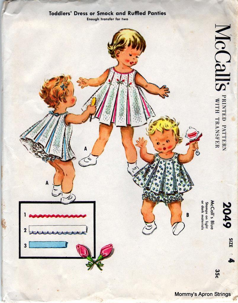Mommy\'s Apron Strings: Vintage Pattern Love: McCall\'s Girl\'s Dresses