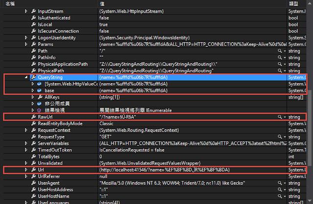 VS-自動變數-QueryString-IE