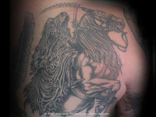 Death tattoo: Death riding his horse