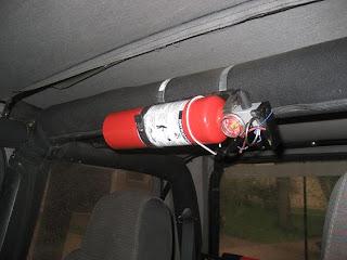 Jeepgeek Jeep Roll Bar Fire Extinguisher Mount