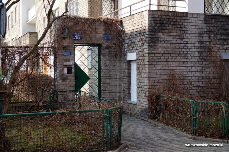 Warszawa Mokotów szara cegła spółdzielnia mieszkaniowa MSW Jan Stefanowicz