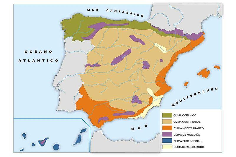 Los climas de espa a clima mediterraneo continental for Clima mediterraneo de interior