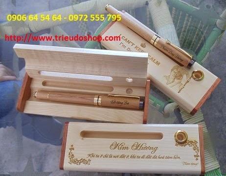 Bút gỗ khắc chữ, quà tặng độc đáo