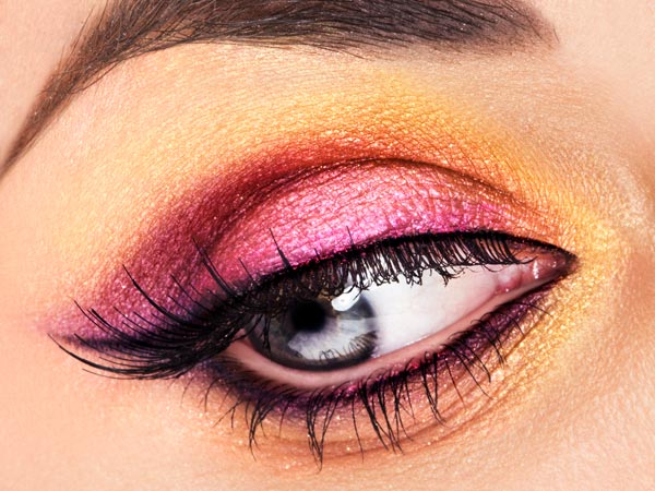 Shiny Pink Eye Makeup