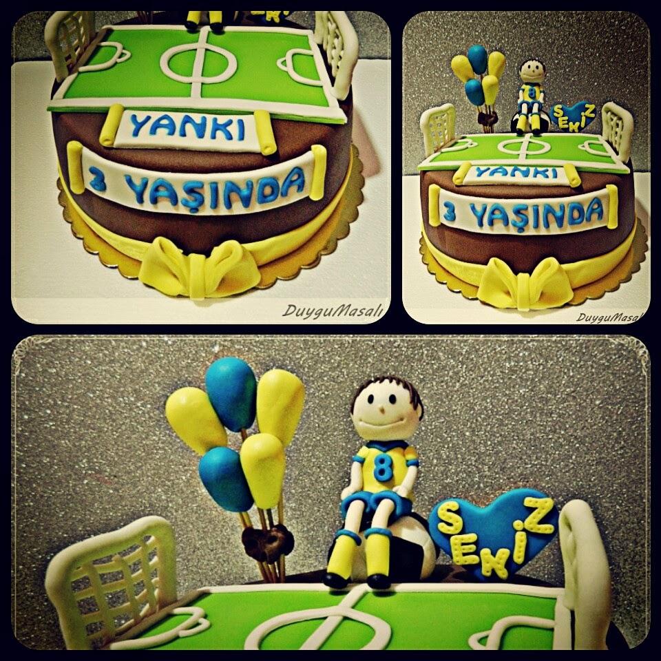 futbol temalı butik pasta