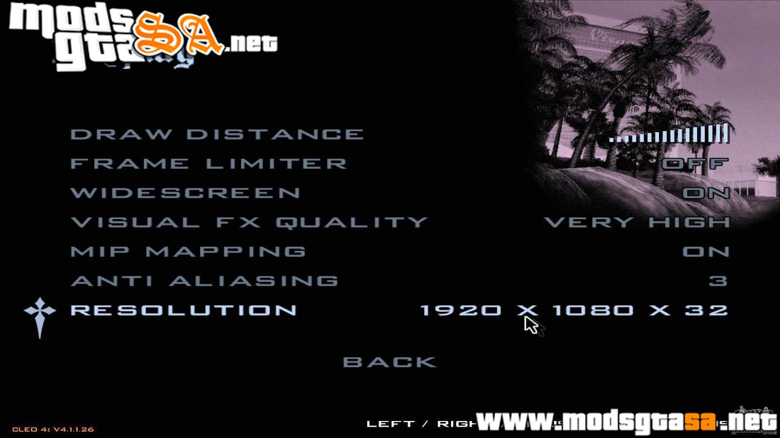 SA - Resolução 1920 x 1080 para GTA San Andreas