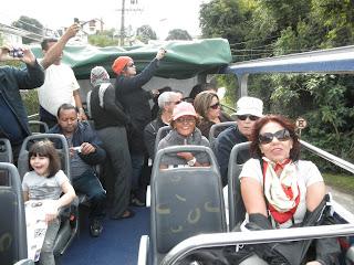 Vista panorâmica do ônibus de turismo, Curitiba, PR