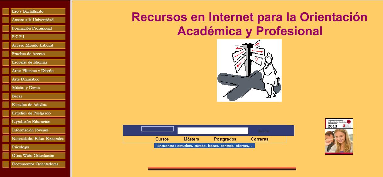 Recursos en internet para la Orientación Académica y Profesional.
