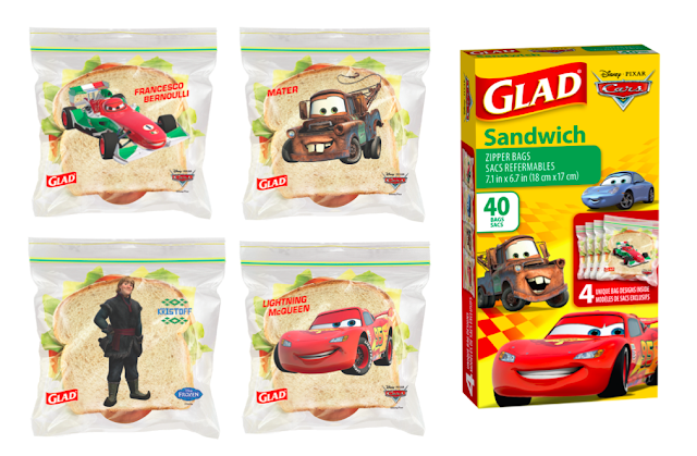 GLAD's New Disney-Themed Sandwich Bags -Cars