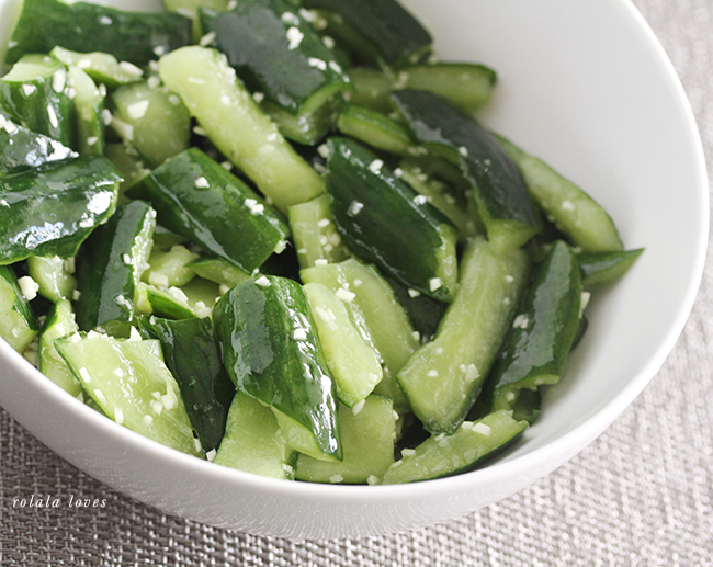 Been making this Chinese cucumber salad every week, sometimes twice.