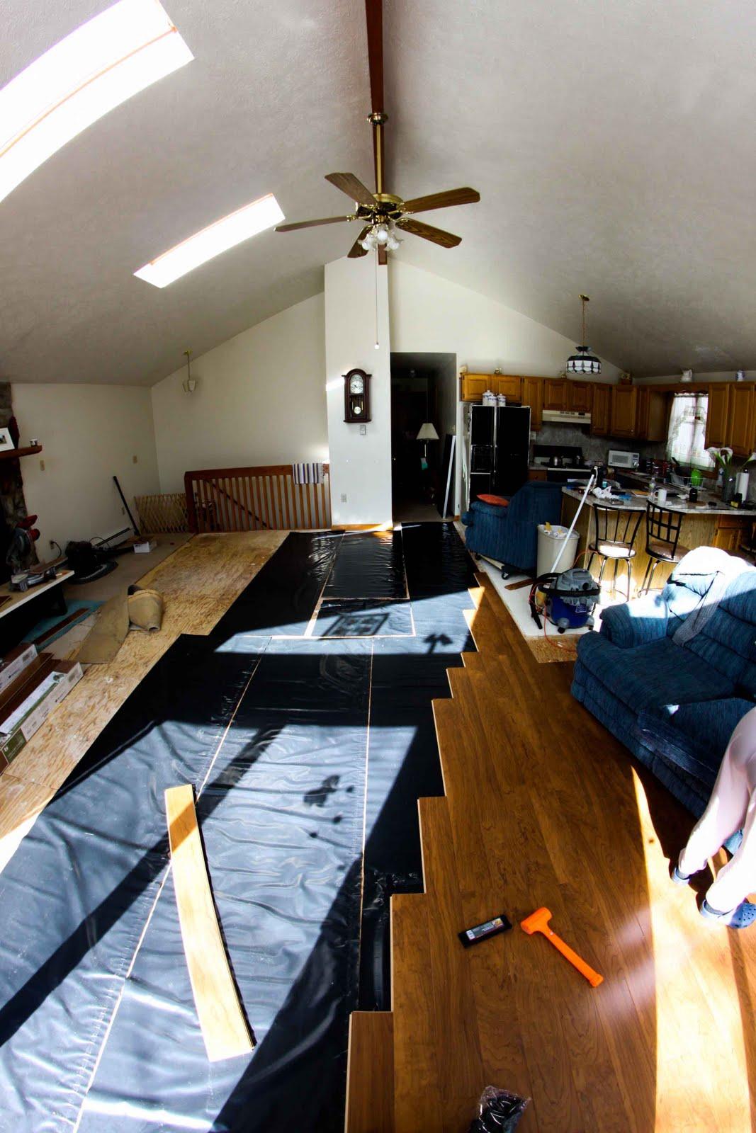 home improvement laminate floor installation project ii work space