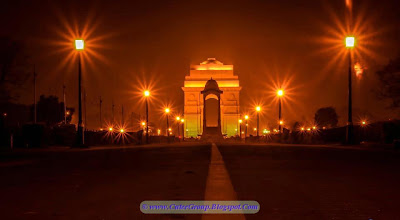 Beauty of India Gate at night