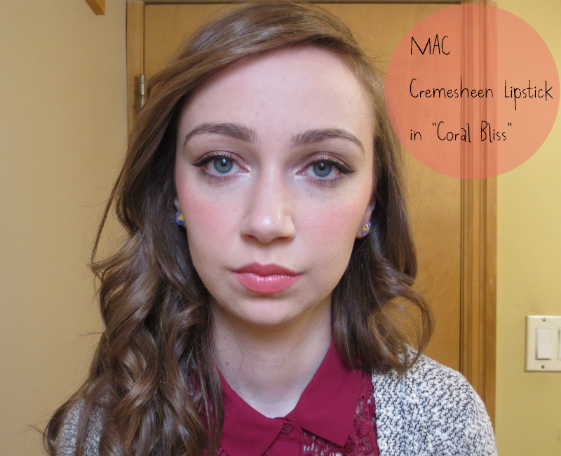 Little Red Bow: MAC Cremesheen Lipstick in Coral Bliss