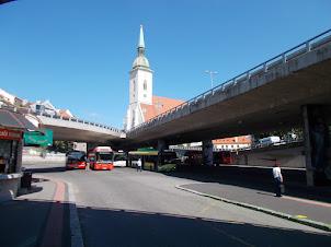 "Friday(4-9-2015) :-  ""Novy Most"" bus station in Bratislava."
