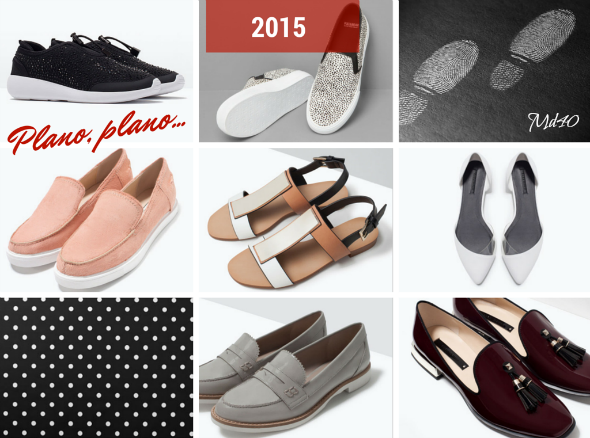 zapatos y sandalias primavera  verano 2015 tendencias plano