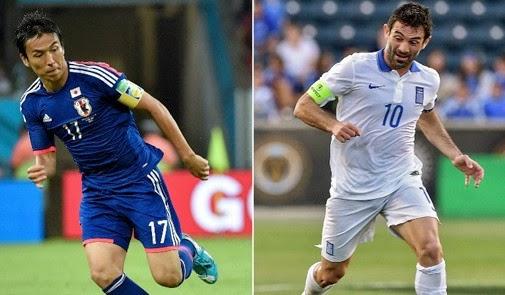Ιαπωνία vs Ελλάδα σήμερα και την Παρασκευή, 06/20/2014 Live Online