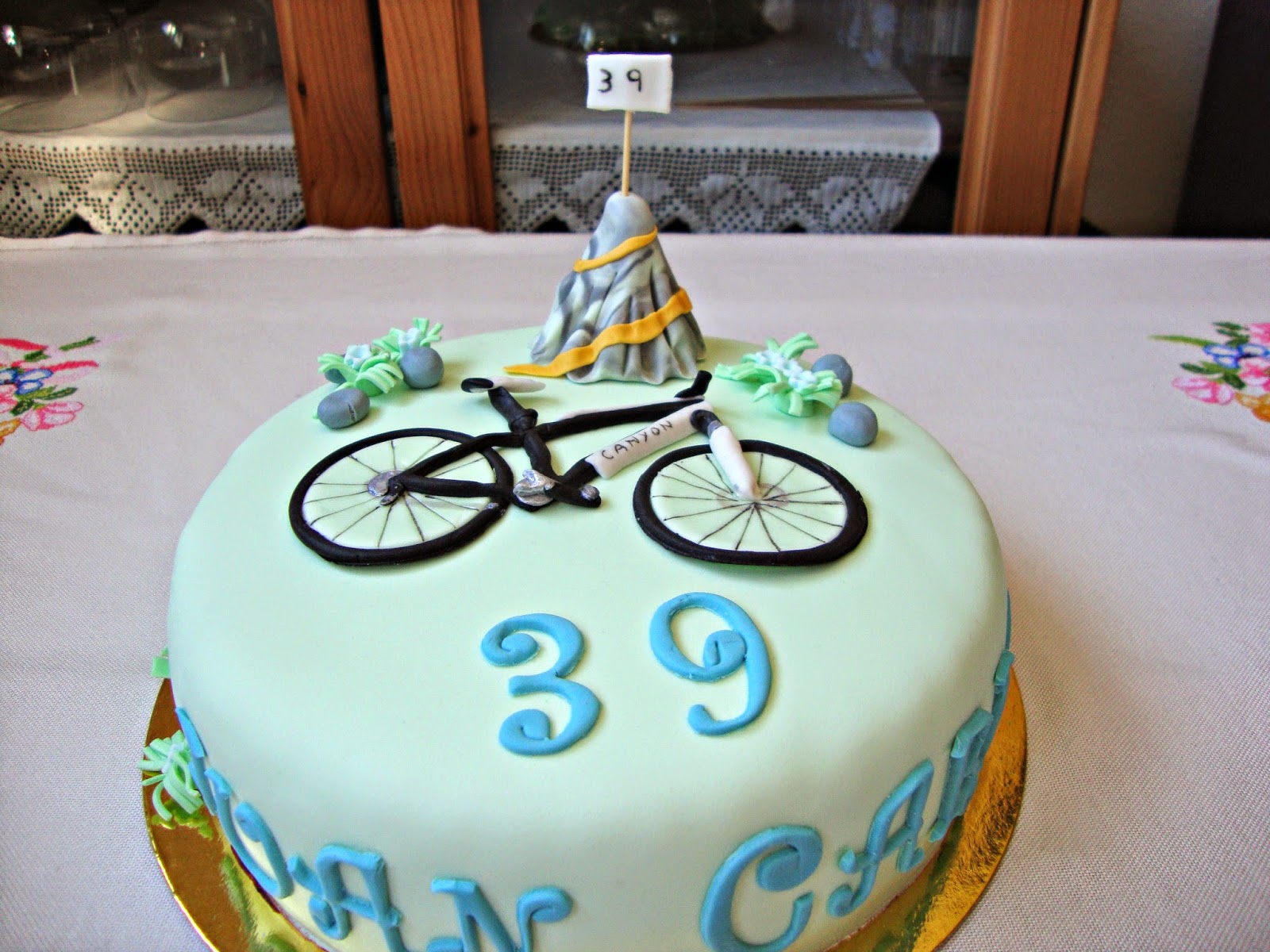 Tarta bicicleta de fondant
