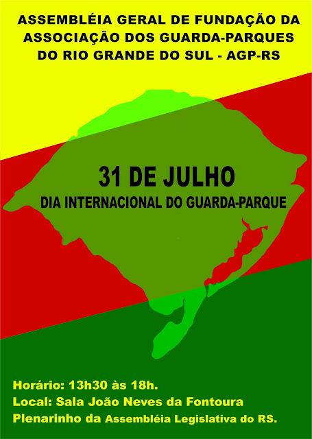Edital de convocação para Assembléia Geral de Fundação da Associação dos Guarda-Parques do Rio Grande do Sul