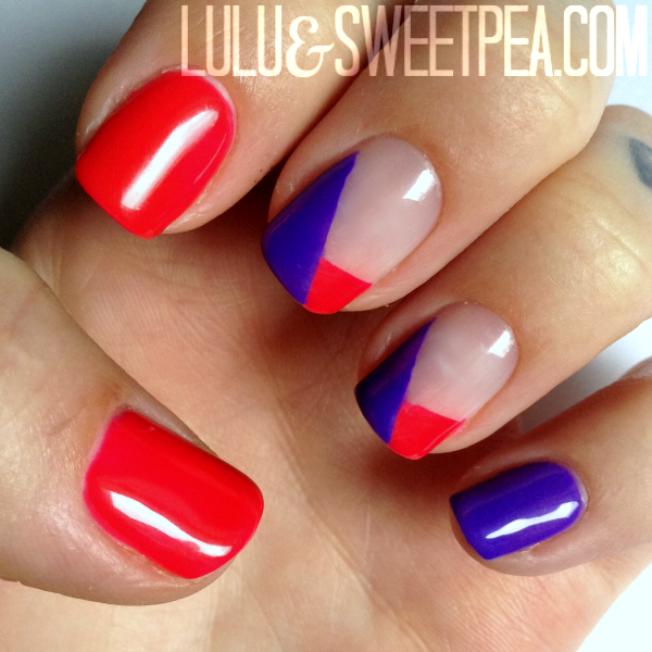 Lulu Sweet Pea Easy Nail Art Using Tape