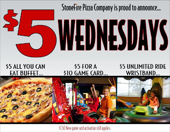 Stonefire $5 Wednesdays